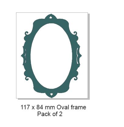 Oval frame Pack of 2 117x84 mm